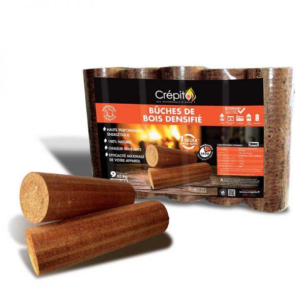 Bûches de bois densifié CREPITO