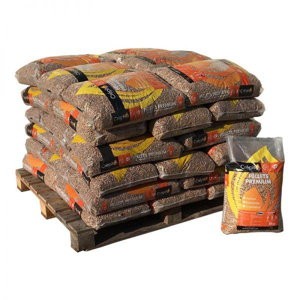 Demi-palette de sacs de pellets CREPITO