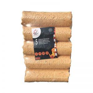 Pack de 5 buches compressées rondes Combulux