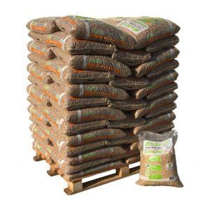 Palette de sacs de pellets Moulin Bois Energie
